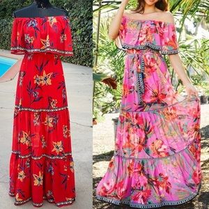 Jealous Tomato tiered off the shoulder dress
